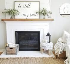 30 gorgeous farmhouse fireplace mantel