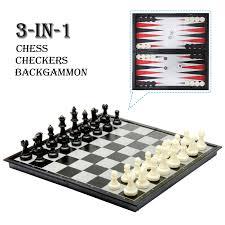12 folding travel magnetic chess