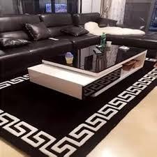 black and white acrylic carpet