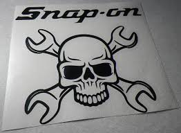 Jdm Snap On Tools Toolbox Skull Wrench Japanese Drift Racing Die Cut Sticky Addiction
