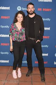 Tatiana Maslany and Tom Cullen at the Entertainment Weekly Celebration