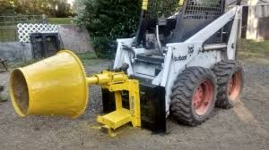 skid steer cement mixer attachment