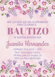 Bautizo Nina Invitacion Printable Invitation Bautismo Spanish