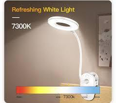 OD LED Cảm Ứng Bật/tắt Công Tắc 3 Chế Độ Kẹp Để Bàn 7000 k Bảo Vệ Mắt Để Bàn  Đèn Mờ Sạc USB Đèn LED Để Bàn