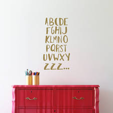Alphabet Wall Decals Abc Zzz Match Set Love