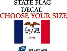 Home Decor Iowa Flag Vinyl Decal Decals Stickers Vinyl Art Sticker 5 Sizes Home Garden Home Decor