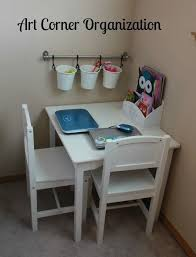 Home Organization 101 Create An Art Corner To Corral Coloring And Craft Supplies Homeorganization Kids Bedroom Organization Kids Room Organization Kids Room