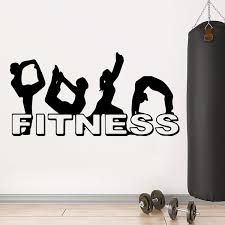 Fitness Wall Art Decal Wall Sticker Mural Home Gym Decor Wish