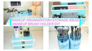 storage ideas makeup brush holder diy