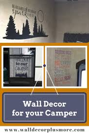 Rv Campers Lucky To Be In Woods Vinyl Decal Decor Travel Trailer Quotes Fibsol Com