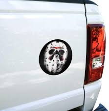 Amazon Com Graphics And More Friday The 13th Jason Mask Automotive Car Window Locker Circle Bumper Sticker Automotive