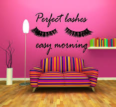 Eyelashes And Eyebrows Wall Decal Lashes And Brows Window Etsy Salon Wall Art Wall Decals Window Stickers