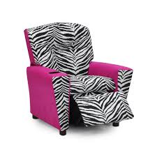 Mixy 32 Tunisia Black White Pink Suede Kid S Recliner With Cup Holder Kids Recliners Zebra Kids Zebra Room