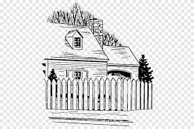 Picket Fence White House Fence Building Fence Png Pngegg