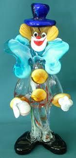 murano glass clown ornament with ball