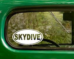 Skydive Decal 2 Stickers Car Decal Skydive Sticker Chi Omega Decal Stickers Alpha Chi Omega Decals