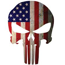 American Flag Punisher Skull Window Decal Police Fire Ems Viny Graphics Stickers Decals Dkedecals