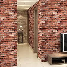 ed red foam brick wall panels