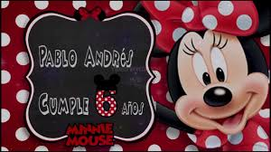 Tarjeta De Invitacion Virtual Cumpleanos Minnie Y Mickey Youtube