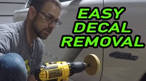 Using A Decal Eraser For The First Time How To Remove Vinyl Decals Easy Youtube