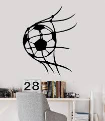 Vinyl Wall Decal Soccer Sport Ball Player For Boys Room Stickers 2703 Wallstickers4you