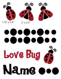 Love Bug 1 Cranial Band Decoration From High Quality Vinyl