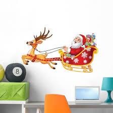 Cartoon Funny Santa His Wall Decal Wallmonkeys Com