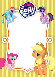 My Little Pony Birthday Invitation Template Equestria Edition