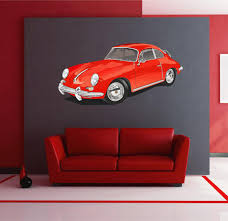 Cik1601 Full Color Wall Decal American Car Classic Old Retro Living Ro Stickersforlife