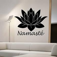 Namaste Yoga Buddha Wall Sticker Lotus Flower Wall Decal Home Decor Living Room Bedroom Decoration Art Murals Wallpaper Fairy Wall Stickers Fish Wall Decals From Onlinegame 12 85 Dhgate Com
