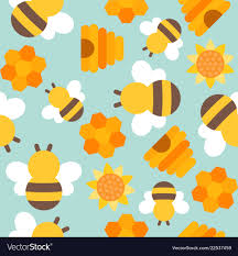 cute bee seamless pattern for wallpaper