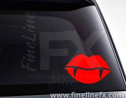 Vampire Lips Vinyl Decal Sticker