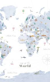 Large Canvas Countries Of The World Map Wall Art Travel Etsy In 2020 World Map Wall Art World Map Decal World Map Art