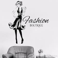 Fashion Woman Design Vinyl Sticker Girls Fashion Clothing Boutique Window Shop Livingroom Wall Decal Gil Dorm Decal Wall Murals Decals Wall Murals Stickers From Joystickers 8 96 Dhgate Com