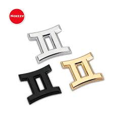 Noizzy Zodiac Sign Constellation Logo Symbol Gemini Car Auto Emblem Motorcycle Sticker Automobile Black Chrome Gold Car Styling Car Styling Black Chromemotorcycle Sticker Aliexpress