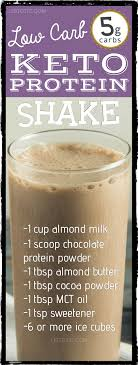 low carb chocolate almond protein shake