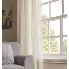 wilko cream faux linen slot top voile