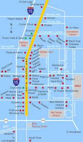 las vegas hotels map