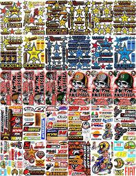 Buy 30 Sheets New Metal Mulisha Rockstar Honda Multi Logo Car Motocross Atv Enduro Bike Race Sticker Racing Decal Graphic Sm72 In Cheap Price On Alibaba Com
