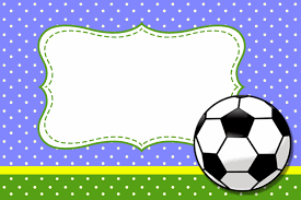 Futbol Tarjetas O Invitaciones Para Imprimir Gratis En 2020