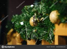 Pictures Fences Decorated For Christmas Christmas Decorations On A Wooden Fence Branches Of A Green Christmas Tree Golden Balls Happy New Year And Merry Christmas Stock Photo C Markoaliaksandr 178271728