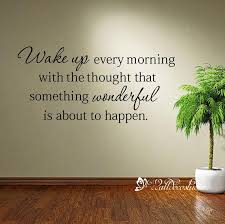 Wake Up Every Morning Decal Wake Up Home Decor Housewares Wall Etsy