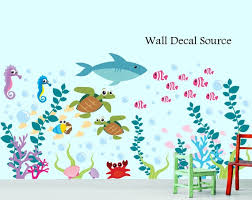 Fish Vinyl Wall Decals Baby Room Decals Baby Room Wall Etsy