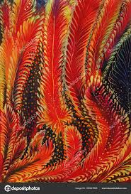 feathers figure silk batik decorative