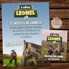 Kit Imprimible Fortnite Decoracion Fiesta De Cumpleanos Nenes
