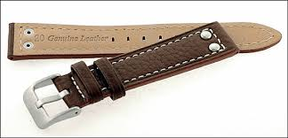 pilot watch strap genuine leather with