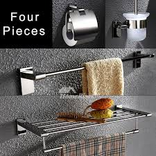 bathroom accessories sets wall mount chrome