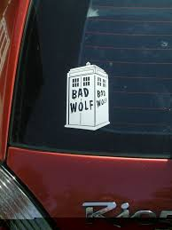 Doctor Who Inspired Car Bad Wolf Vinyl Decal Vehicle By Bioblitz 5 00 Bad Wolf Bumper Stickers Vinyl Decals