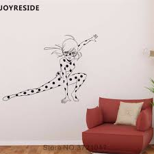 Joyreside Lady Hero Wall Decal Ladybug Girl Pattern Wall Sticker Cute Vinyl Decor Home Kids Playroom Decor Interior Design A865 Wall Stickers Aliexpress