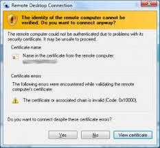 update delivers signed ssl certificate
